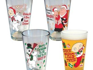Family Guy Holiday Pint Glass Set