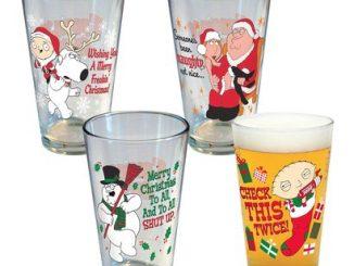 Family Guy Holiday Pint Glass Set