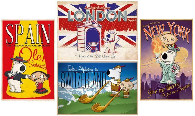 Family Guy Road to ... Lithograph Prints
