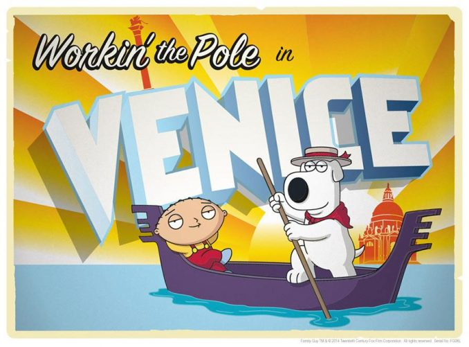 Family Guy Road to Venice Lithograph Print