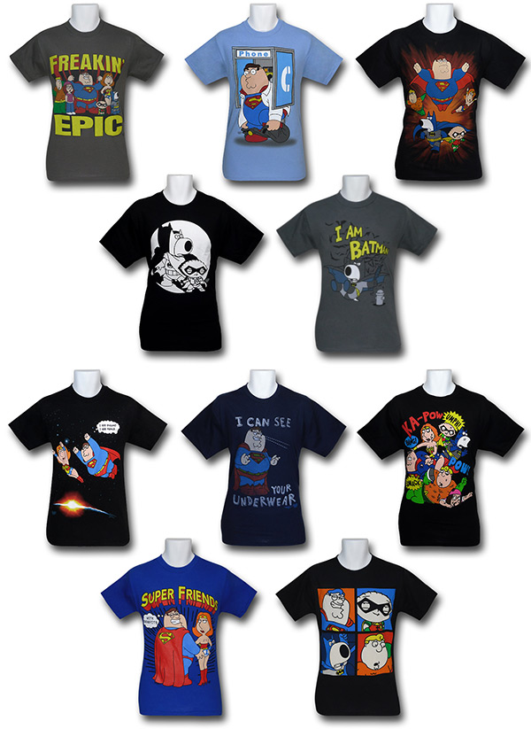 Family Guy Superhero Shirts