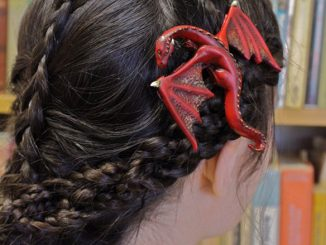 Fantasy Dragon Hair Clips - Red Dragon