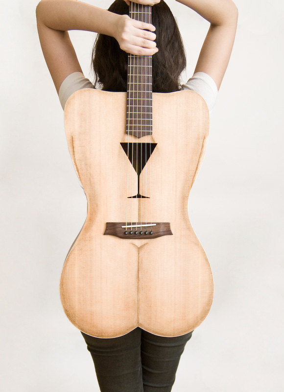 Female Form 6 string acoustic guitar