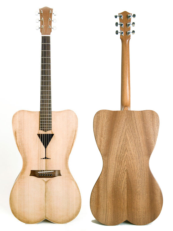 Female Shaped acoustic guitar