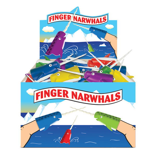 Finger Narwhal Puppets