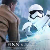 Finn and First Order Riot Control Stormtrooper Sixth-Scale Figure Set