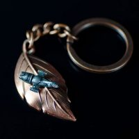 Firefly Leaf on the Wind Key Chain Pendant