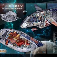 Firefly Serenity Cutaway View Poster Set