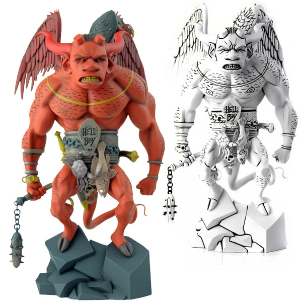 First Hellboy Red and Black and White Statue