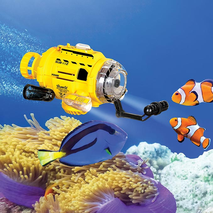 Fish Feeding RC SpyCam Submarine