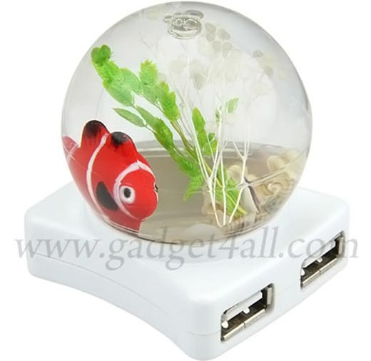 Fishbowl LED Crystal Ball USB Hub