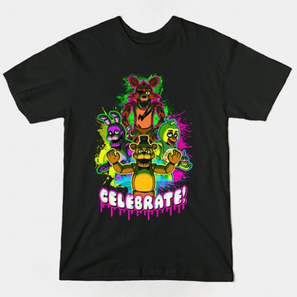 Five Nights at Freddys Celebrate T-Shirt