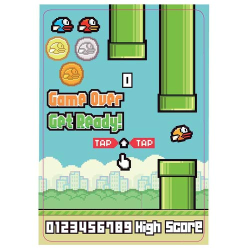 Flappy Bird Build-a-Scene Magnet Set