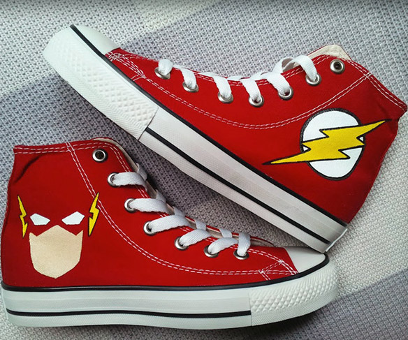 00fa8f73723eb7 Flash Custom Converse Painted Shoes