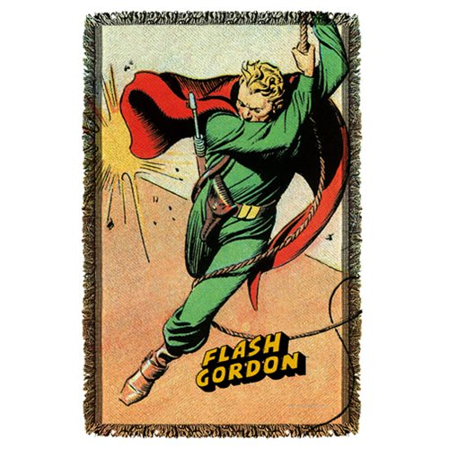 Flash Gordon Space Woven Tapestry Throw Blanket