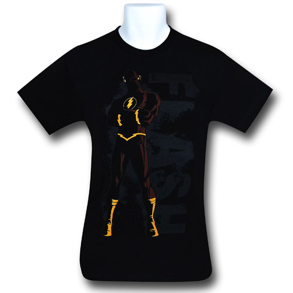 Flash In Front of Logo Black T-Shirt