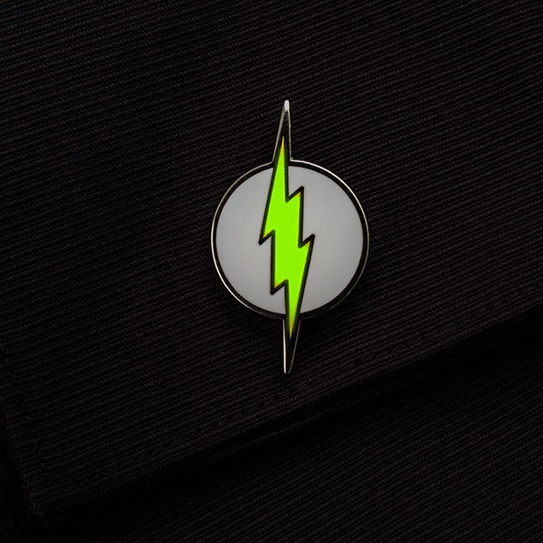 Flash Logo Glow-In-The-Dark Cufflinks