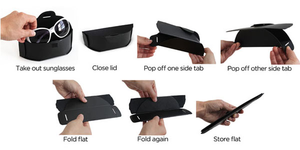 Flipcase A Collapsible Sunglass Case