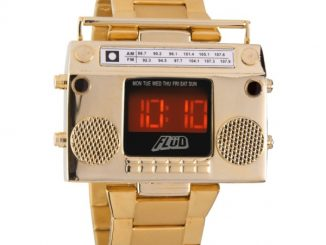 Flud Men's Boombox Gold Retro LED Digital Watch
