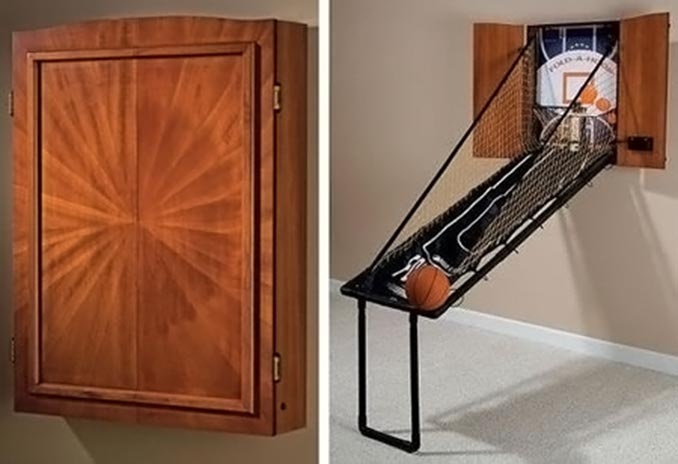 Fold-Out Basketball Game