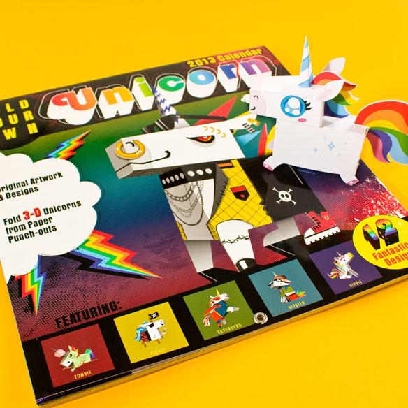 Fold Your Own Unicorn Calendar