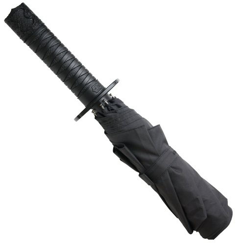 Folding Mini Samurai Sword Black Ninja Umbrella