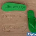 Follow Me Bring Beer Custom Flip Flops