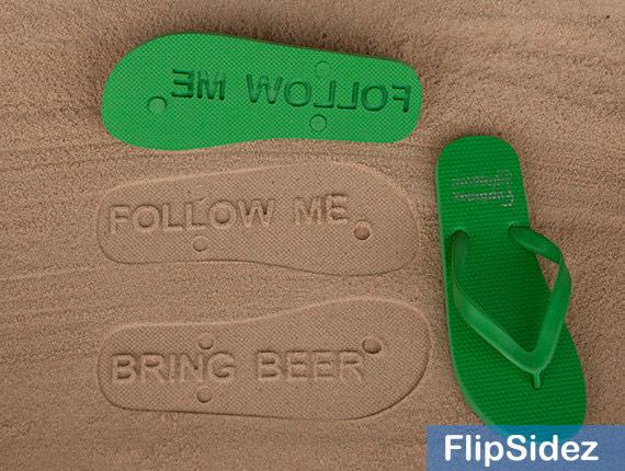 Follow Me Bring Beer Custom Flip Flops