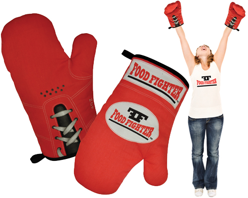 Food Fighter Boxing Glove Oven Mitts