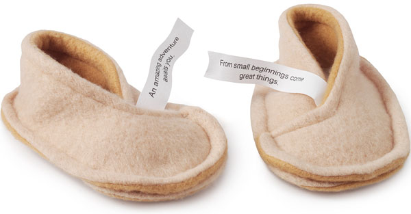 Fortune baby Cookie Slippers
