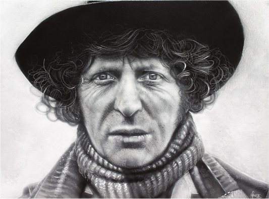 Fourth Doctor Definite Article Art Print