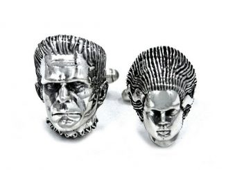 Frankenstein and Bride Cufflinks