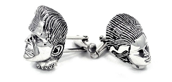 Frankenstein with Bride Cufflinks