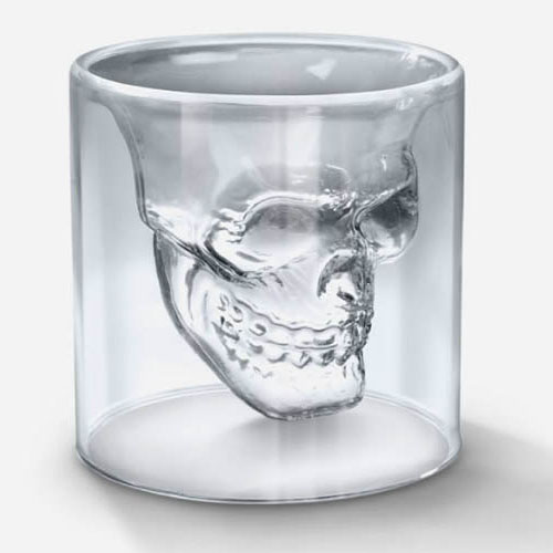 Fred Doomed Crystal Skull Shot Glass