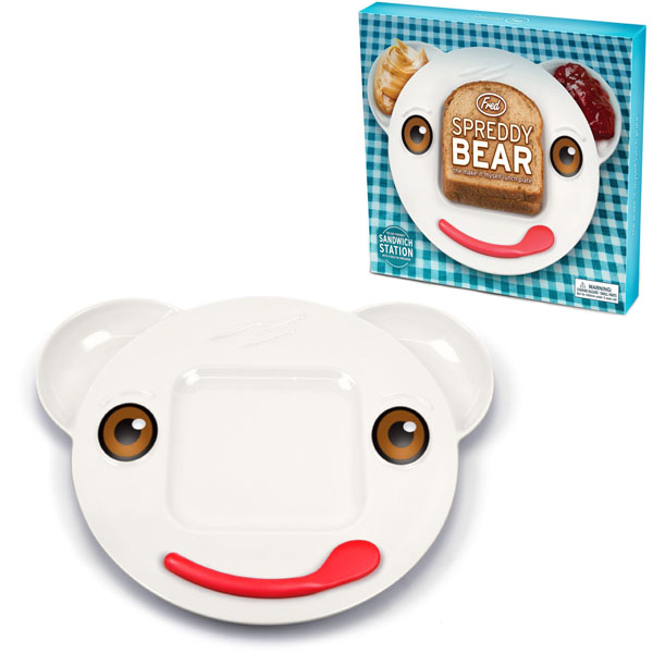 Fred and Friends Spreddy Bear Sandwich Plate