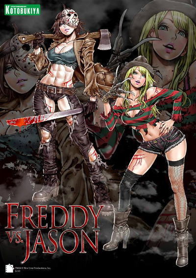 Freddy vs Jason Bishoujo Statues