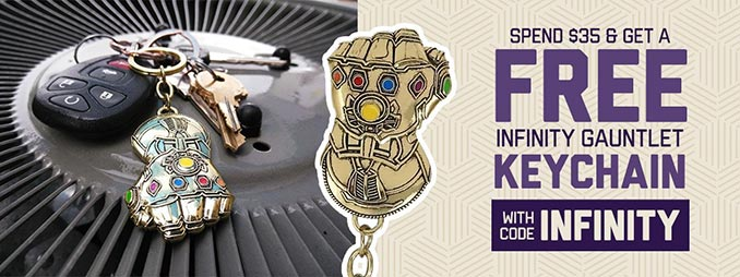 Free Infinity Gauntlet Keychain. There are frequently great SuperHeroStuff  ... 673876c8c296
