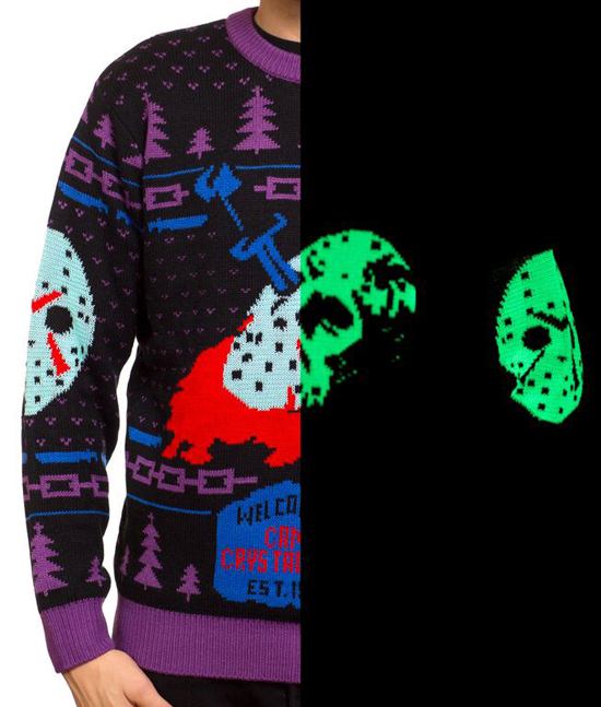 Friday the 13th 8-Bit Glow-in-the Dark Knit Sweater 1
