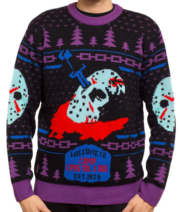 Friday the 13th 8-Bit Glow-in-the Dark Knit Sweater