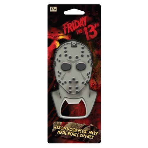 Friday the 13th Jason Mask Metal Bottle Opener