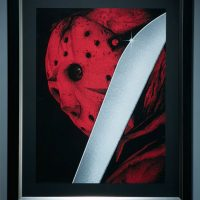 Friday the 13th Jason Voorhees Premium Art Print framed