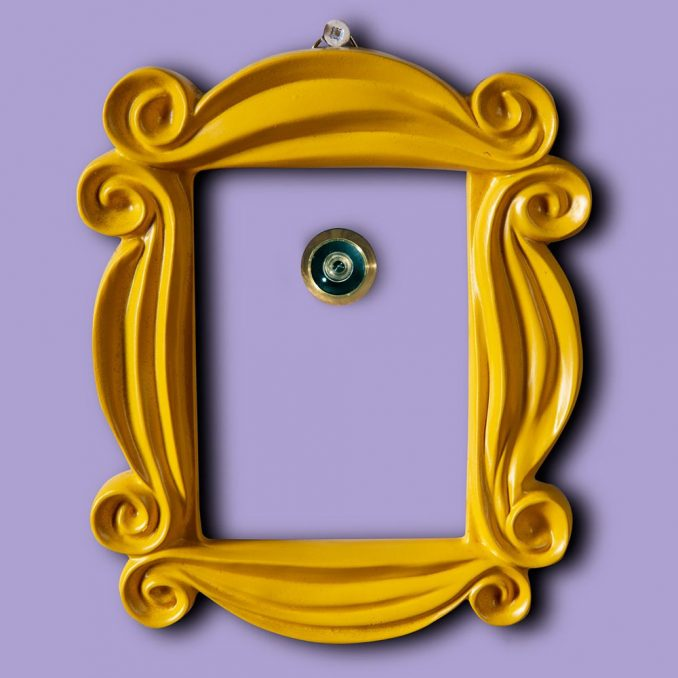 Friends Yellow Peephole Photo Frame