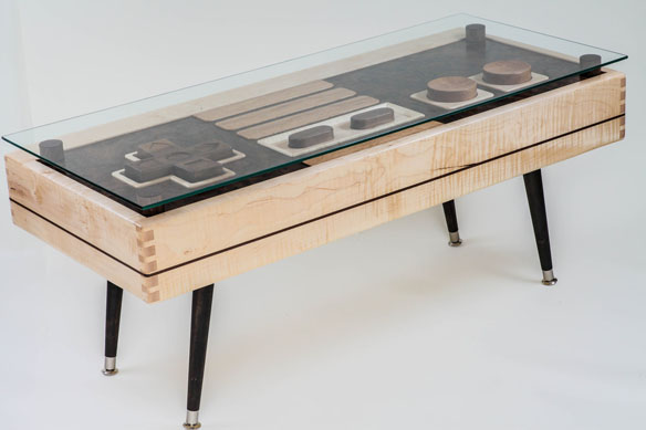 Functional Nintendo Controller Coffee Table
