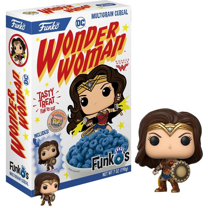 FunkO's Wonder Woman Cereal with Pocket Pop!