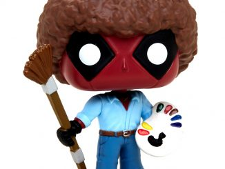 Funko Marvel Pop Deadpool As Bob Ross Vinyl Figure