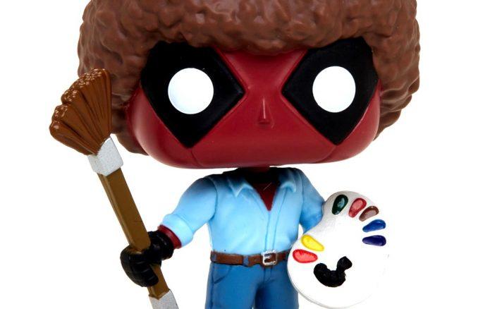 Funko Marvel Pop Deadpool As Bob Ross Vinyl Figure