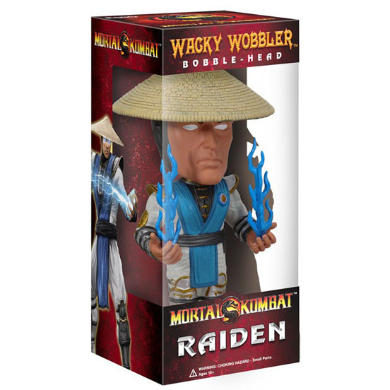 Funko Mortal Kombat Wacky Wobbler Bobble Head Raiden