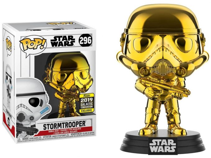 Funko POP Star Wars Gold Chrome Stormtrooper Galactic Convention Exclusive