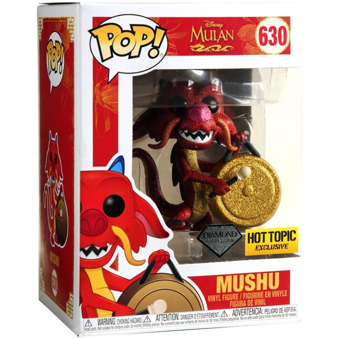 Funko Pop! #630 Diamond Collection Mulan Mushu Figure