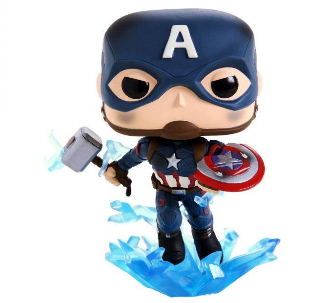 Funko Pop! Avengers: Endgame Captain America Mjolnir Figure